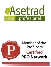 I am a member of Asetrad and the Certified PRO Network from ProZ - Jelena Morgan